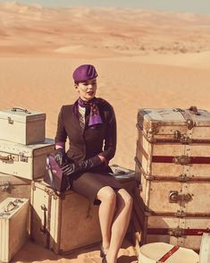 More Etihad Airline uniform glamour… part of a shot by Norman Jean Roy of the new Etihad Airways uniforms by Ettore Bilotta. Gorgeous!