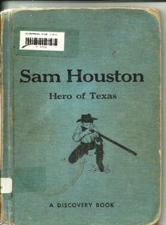 1965 Sam Houston Hero of Texas School Book by by TheIDconnection, $30.00