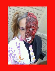 Batman Two Face Prosthetic Makeup Special FX Zombies by JaneDoeFX