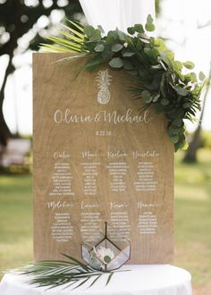 Seating chart Maui Weddings, Hawaii Wedding, Unique Weddings, Destination Wedding, Mirror Seating Chart, Table Seating Chart, Wedding Place Cards, Wedding Signs, Wedding Ideas