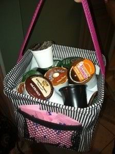What a great Christmas present!  You could fill it with K-cups and give it your favorite K-cup enthusiast!    K-cup storage w/ Thirty-one flare! www.mythirtyone.com/Barbs31/