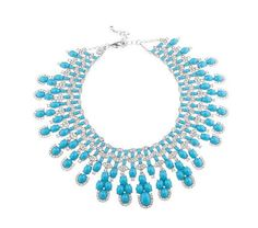 Statement necklace from QVC - knockoff of the vintage VCA necklace worn by Eva Mendez on the red carpet.