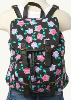 Floral Backpack   Backpacks   rue21 MOM IM DYING I NEED THESE NEXT 2 BACKPACKS! THE ONE I HAVE IS BROKEN! $21.99