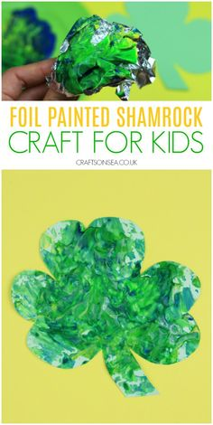 Easy Shamrock Craft for Kids This foil painted shamrock craft is a super easy and super fun St Patricks Day activity for kids that uses supplies from your kitchen to make an easy sensory activity or messy play painting activity. Saint Patricks Day Art, St Patricks Day Crafts For Kids, St. Patricks Day, Spring Art Projects, Toddler Art Projects, Toddler Crafts, Spring Crafts, March Crafts, St Patrick's Day Crafts