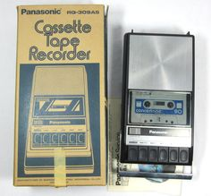 Panasonic Cassette Tape Recorder RQ-309AS Vintage Player via Echo Deco Modern on Etsy