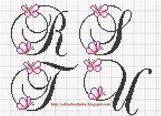 Resultado de imagen para bordado-monograma-punto cruz