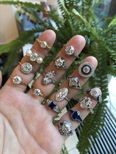 Stunning vintage engagement rings just arrived!