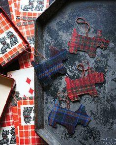 Sweet Paul's DIY Tartan Scotty-Dog Christmas Ornaments