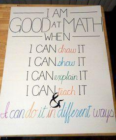good at math