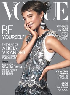 The January 2016 issue of Vogue features Alicia Vikander on the cover, and hits newsstands on December 22. Photo: David Sims/Vogue