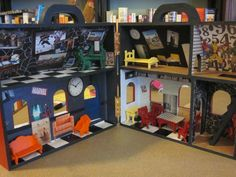 The idea was to make the interior into a superheroes hideout for their action figures.