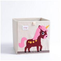 Cube storage box - unicorn Fabric Storage Boxes, Toy Storage Boxes, Toy Bins, Cube Storage, Storage Ideas, Kids Boxing, Cartoon Kids, Creative Kids, Animals For Kids