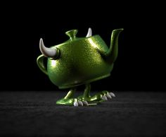 A Look At Pixar's Collectible RenderMan Teapots. Apparently Pixar was under the impression that I did not have enough tiny, cute things to collect.