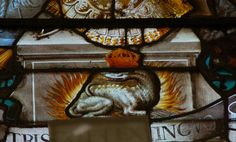 Francis the 1st salamander emblem - stained glass window by Monceau, via Flickr