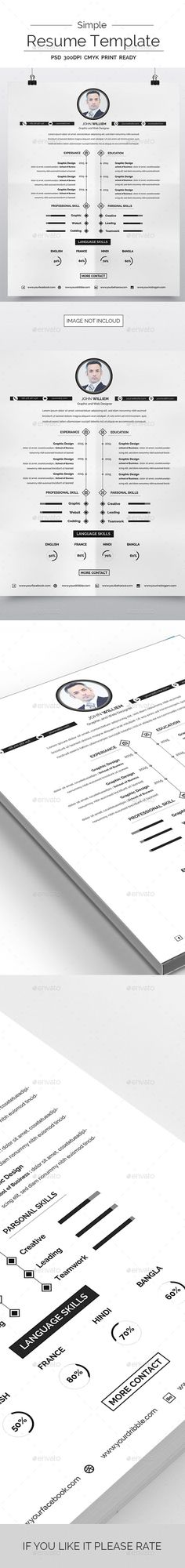 Simple Resume   Simple Resume Simple Resume Template And Font Logo