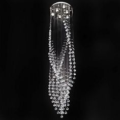 Contempo Collection Contemporary Modern Chandelier - Crystal Rain Drop Lighting Downlight - Gemstone Contempo Collection http://www.amazon.com/dp/B00PVJQ7AM/ref=cm_sw_r_pi_dp_XjMVub1W1DVR4