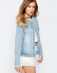 Somedays Lovin Сырье Край джинсовой куртке