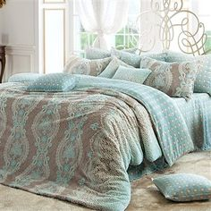 love this bedding - Click image to find more Home Decor Pinterest pins