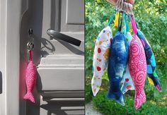Porte-clés poissons - Avec 10 doigts