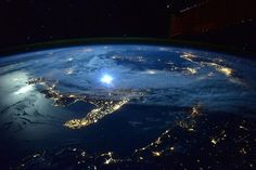 Moonlight over Italy - Photograph by Astronaut Scott Kelly.  The Top 100 Pictures of the Day for 2015