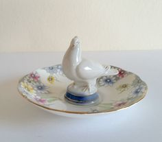 Your place to buy and sell all things handmade Ring Holders, English China, Pastel Floral, Ring Dish, Engagement Gifts, Crow, Parisian, Tea Cups, Shabby Chic