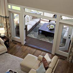Easi slide op1 white shaker 1 pane sliding door system in for Sliding glass doors onto deck