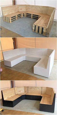 pallet furniture People mostly weste the shipping pallets but there are fantastic ideas for upcycling of these wooden pallets. You can modify design of your furniture and design Pallet Garden Furniture, Diy Furniture, Barbie Furniture, Outdoor Furniture, Luxury Furniture, Furniture Plans, Rustic Furniture, Furniture Stores, Office Furniture