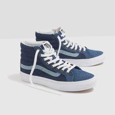 Madewell x Vans® Sk8-Hi Slim High-Top Sneakers in Denim 9931f88fd