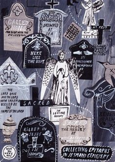 Collecting Epitaphs in Jesmond Cemetery  by Alice Pattullo