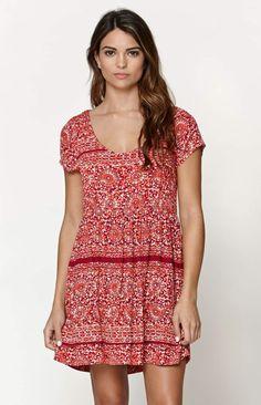 LA Hearts Woven Babydoll Dress - Womens Dress - Multi