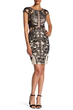 Embellished Cap Sleeve Dress by TERANI COUTURE on @HauteLook