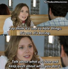 Liberal Arts I LOVE this movie!