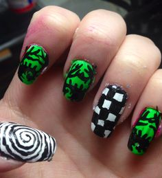 Tim burton nail art:)