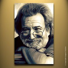 JERRY GARCIA Original Painting poster by AugustStudiosOnline