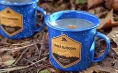 Campfire Candle - Wood Wick Soy Candle in Enamel Camping Mug, Rustic Candles, Soy Candles, Unique Gifts, Best Gifts, Always Cold, Insulated Travel Mugs, Camping, Fragrance Oil, Wicked