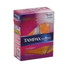 Tampax Tampons Radiant Plastic Super Plus Absorbency, Unscented, 16 ea | Helps to protect and make leak-free periods possible. myotcstore.com - Ezy Shopping, Low Prices & Fast Shipping.