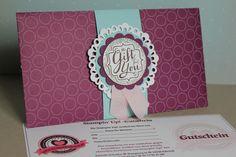 Gutscheinverpackung mit Punch Board, Bild1, Basteln mit Stampin' Up!
