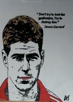 #stevengerrard #LFC #LiverpoolFC #Gerrard follow me of facebook https://www.facebook.com/AngiesGlassworks