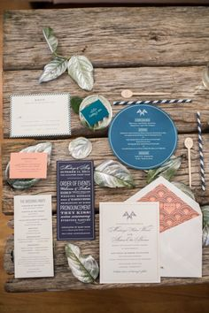 Unique invitations: http://www.stylemepretty.com/connecticut-weddings/guilford/2015/04/03/elegant-waterfront-wedding-at-the-guilford-yacht-club/   Photography: Leila Brewster - http://www.leilabrewsterphotography.com/