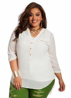 4c0e9da6263 Ashley Stewart Women s Plus Size Hi-lo Button Down Top  List Price   34.50