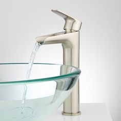 Signature Hardware 927331 Pagosa Vessel Bathroom Faucet For Overflow Sinks Dra Brushed Nickel Lavatory