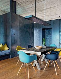 Salle à manger turquoise