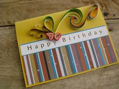 Paper Quilled Hand Made Birthday Card by dreamquills on Etsy, $4.99