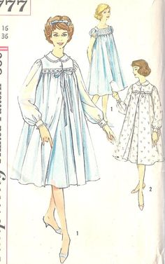 0fe223806a 1950s Nightgown Nightgowns