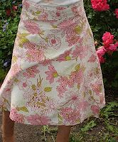 Girls wrap-around skirt pattern
