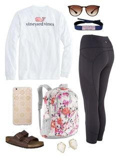 """""""Untitled #373"""" by classygrace ❤ liked on Polyvore featuring The North Face, Birkenstock, Sonix, Kendra Scott and Ray-Ban"""