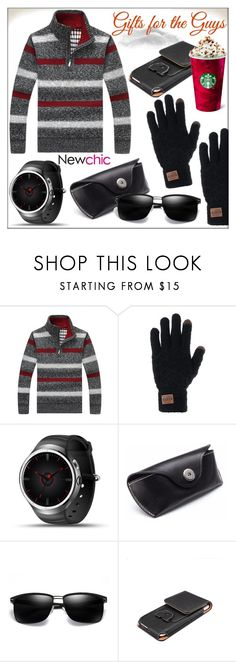 """Newchic (The Men's Collection #13)"" by whirlypath ❤ liked on Polyvore featuring men's fashion and menswear"