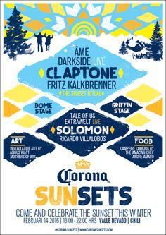 #sunsets #corona #festival #coronasunsets #poster #visualbrandidentity #typography #font #identity #2016 #edm #nachtlab #sfx #artdirection #handmade #painted #ourmachine #madebymacgine #global