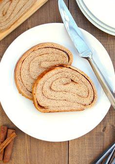 Whole Wheat Cinnamon Swirl Bread from @amy @ fearless homemaker