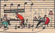 Sheet Music Doodles - Close Up